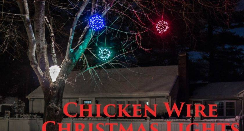 Make Lighted Chicken Wire Christmas Balls Diy