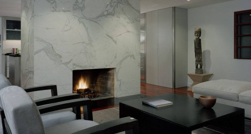 Marble Fireplace Surround Living Room Contemporary