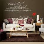 Marilyn Monroe Wall Decals Art Home Living Room Bedroom