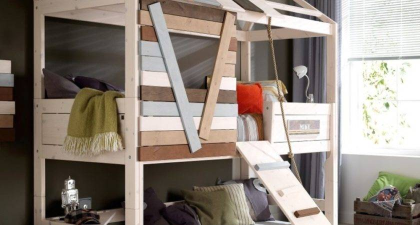 Marvelous Small Cabin Beds High Treehouse Bed Wooden