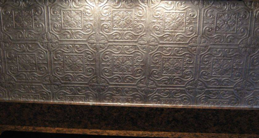Mashababko Tin Backsplash