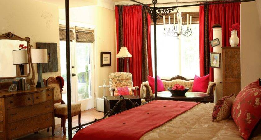 Master Bedroom Rich Red Gold Hgtv Inside Cute Home