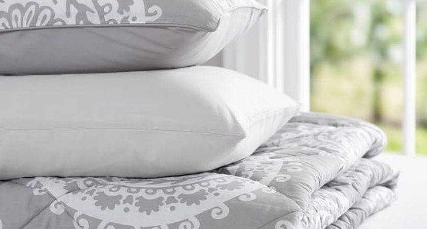 Medallion Florette Value Comforter Set Light Gray Pbteen