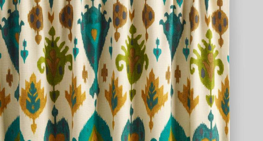 Mesmerizing Ikat Curtains Coral Etsy Canada