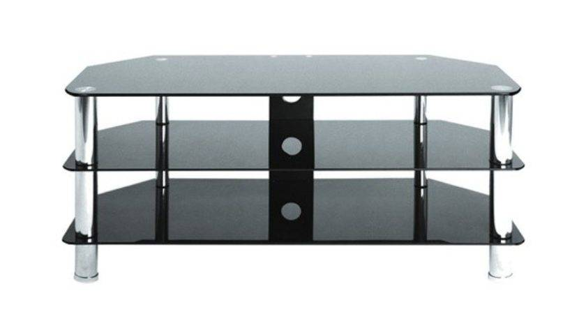 Metal Black Glass Shelf Corner Stand Shelves Inch