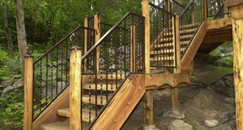 Metal Railings Exterior Home Depot Outdoor Stair