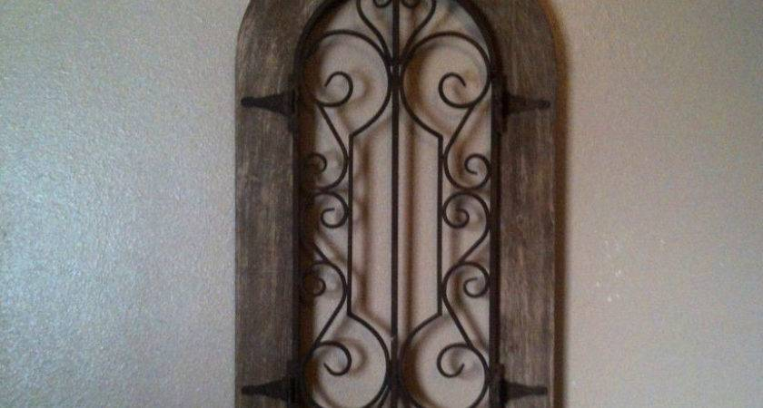 Metal Wood Arch Wall Panel Antique Vintage Rustic Chic