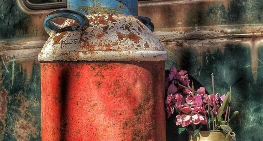 Milk Can Vintage Rustic Country Decor Scarolaphotography