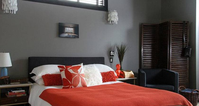 Minimalist Black Red Bedroom Ideas