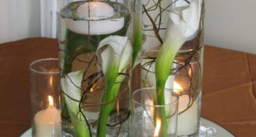 Mirror Table Centrepiece Display Round