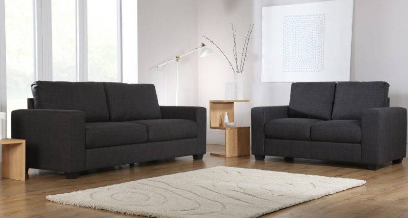 Mission Slate Grey Fabric Sofa Sofas Couch Settee Ebay