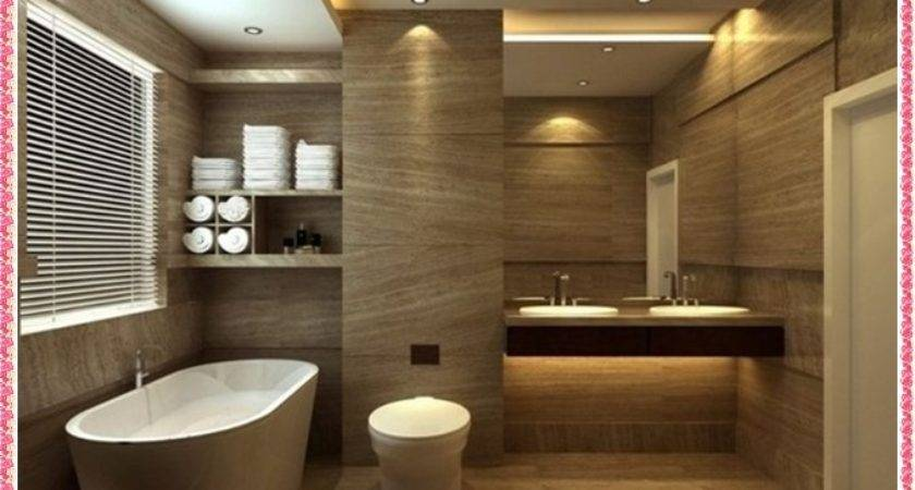 Modern Bathroom Decor Double Sink Vanity Design Ideas Wall