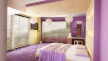 Modern Bedroom Purple Color Dands