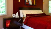 Modern Bedroom Red Color Dands