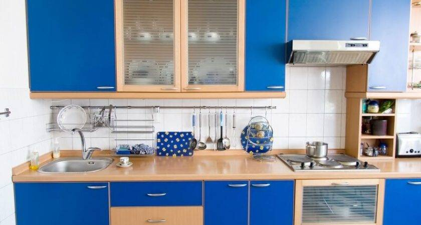 Modern Blue Kitchen Cabinets Design Ideas