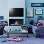 Modern Blue Living Room Decorating Ideas