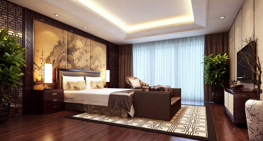 Modern Brown Bedroom Model Max Cgtrader