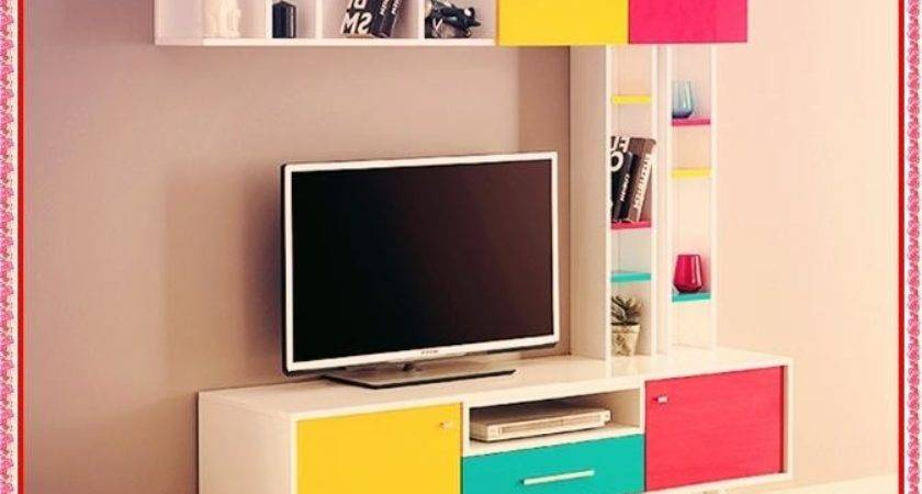 Modern Cabinet Designs Colorful Unit Design