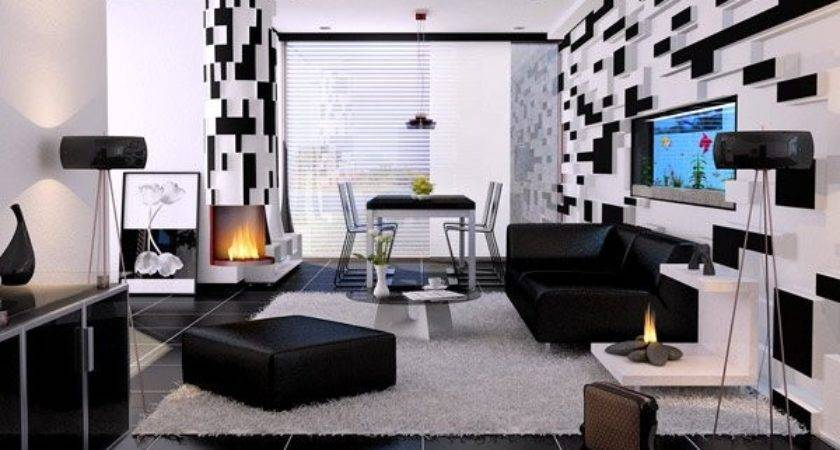 Modern Contemporary Black White Living Rooms Home