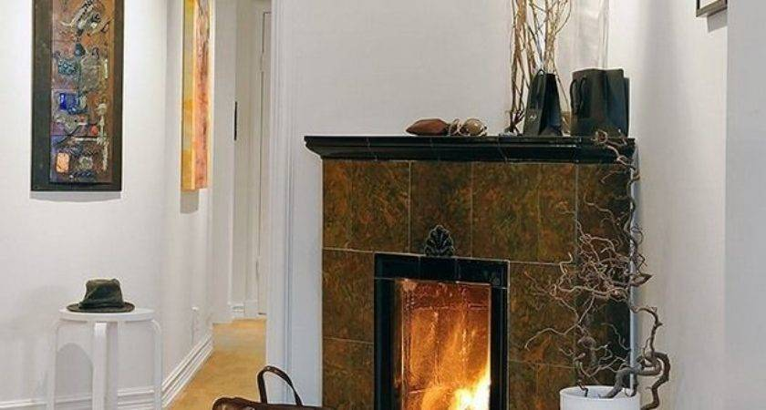 Modern Corner Gas Fireplaces Fire Place Pits