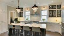 Modern Cottage Kitchen Glass Front Cabinets