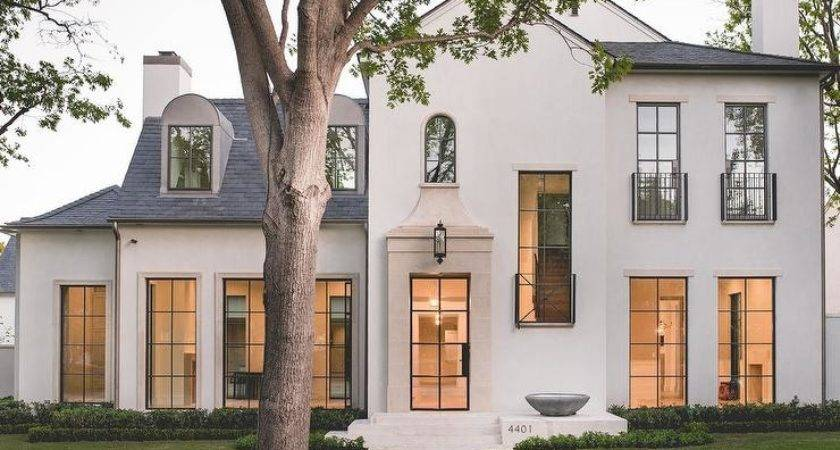 Modern French Home Exterior Transitional