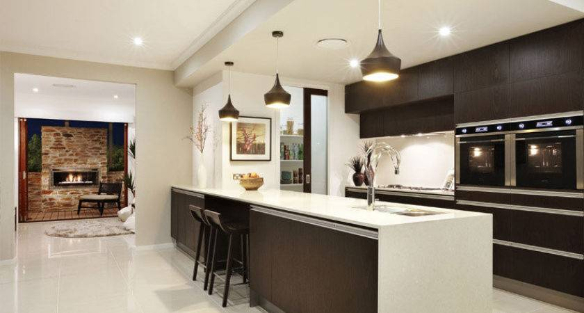 Modern Galley Kitchen Design Using Granite