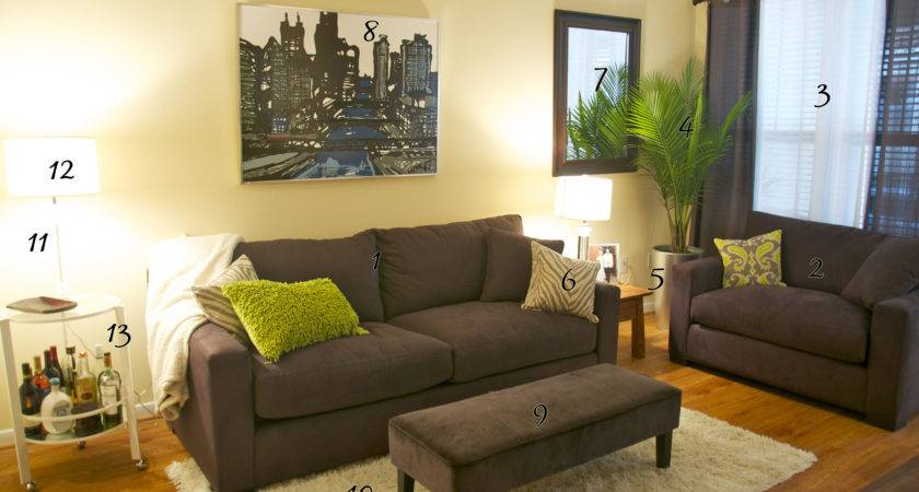 Modern Grey Living Room Pops Green Happy Wife