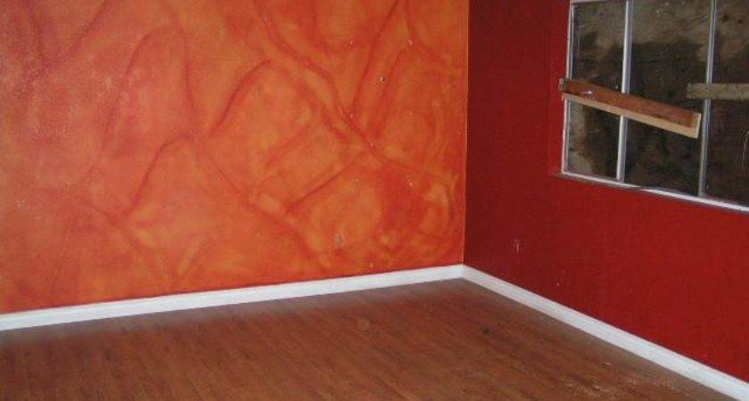 Modern Home Interior Orange Color Painting Ideas