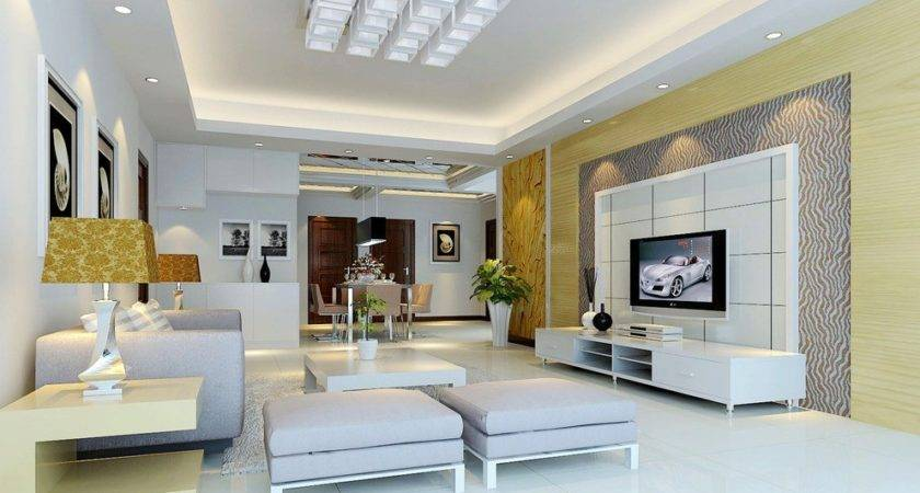 Modern House Living Interior Wall Design
