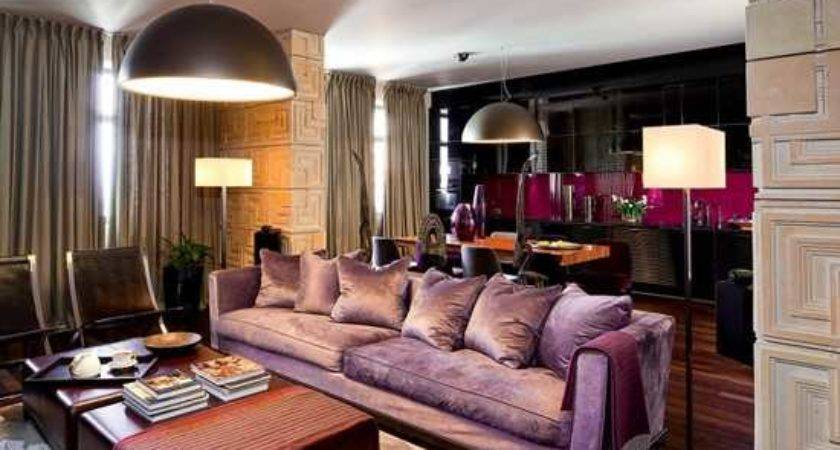 Modern Interior Colors Brown Purple Hair