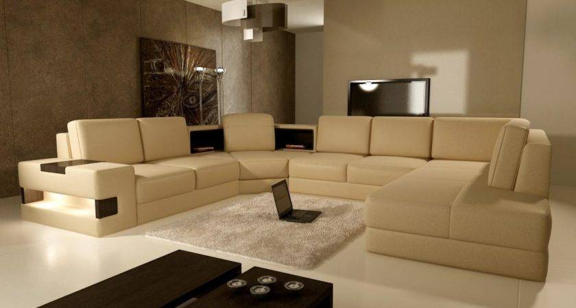 Modern Living Room Brown Color Furniture