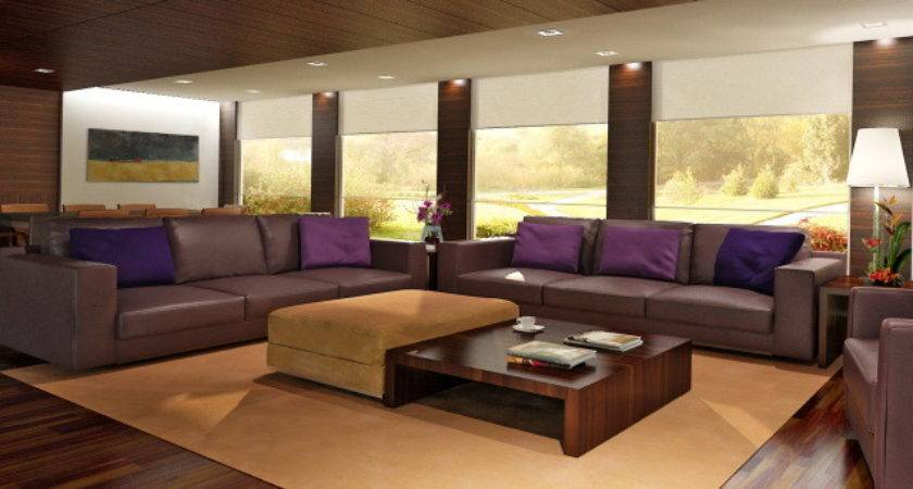 Modern Living Room Ideas Brown Home Design