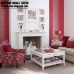 Modern Living Rooms Red White Design