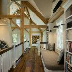 Modern Meets Country Loft Library Interior Horizontal