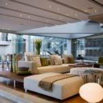 Modern Open Plan Glass House Livingroom Interior