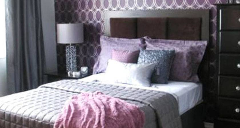 Modern Purple Bedroom Design Ideas Silver