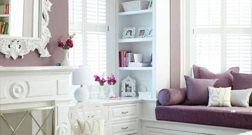 Modern Purple Bedroom Design Ideas White