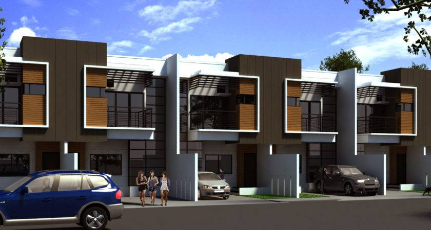 Modern Row House Design Planning Houses Architecture