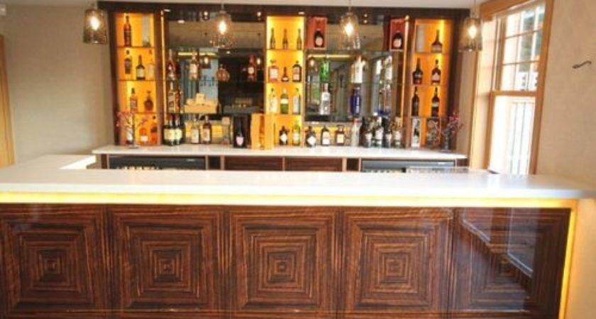 Modern Shaped Home Bar Design Ideas Remodels Photos