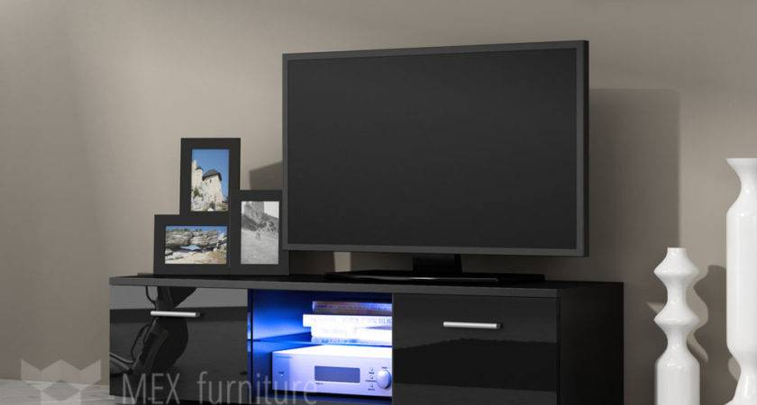 Modern Unit Cabinet Stand Black Matt