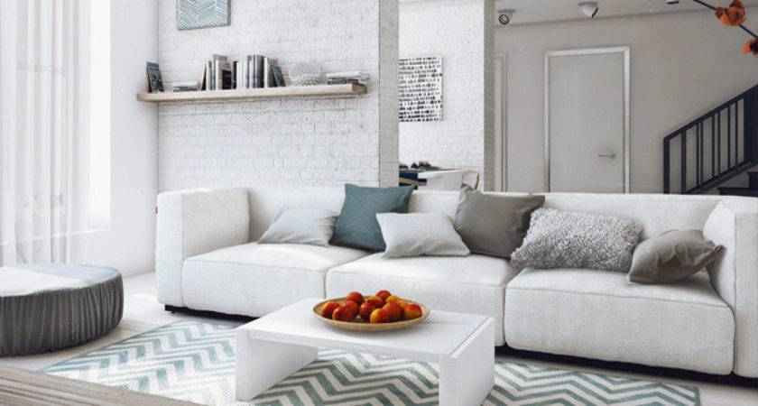 Modern White Gray Living Room Ideas Home Design Lover