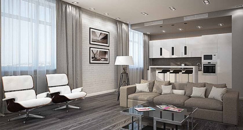 Modern White Gray Living Room Ideas