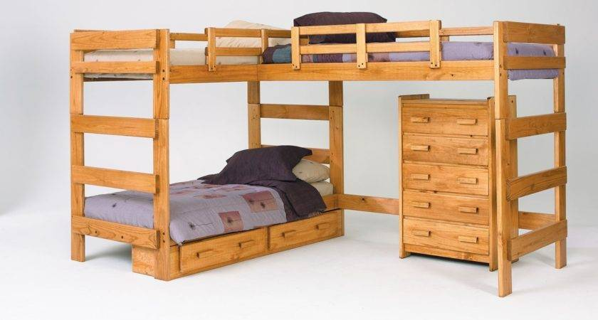Modern Wooden Bunk Beds Nature Style Kids Room Ideas