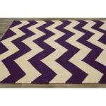 Moderna Purple Chevron Area Rug Wayfair
