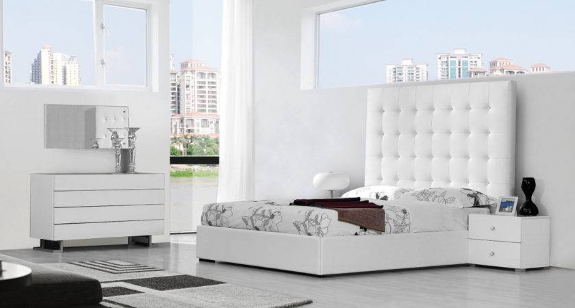 Modrest Lyrica Modern White Bedroom Set