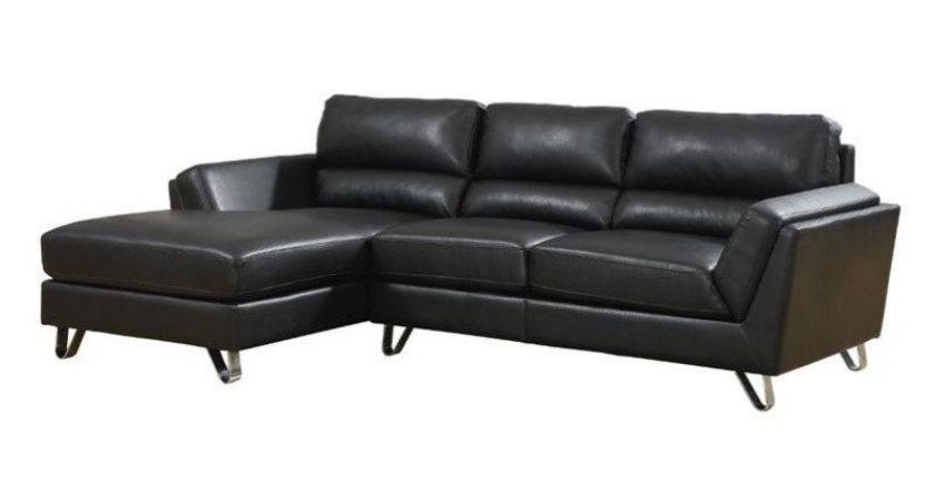Monarch Leather Sofa Lounger Black