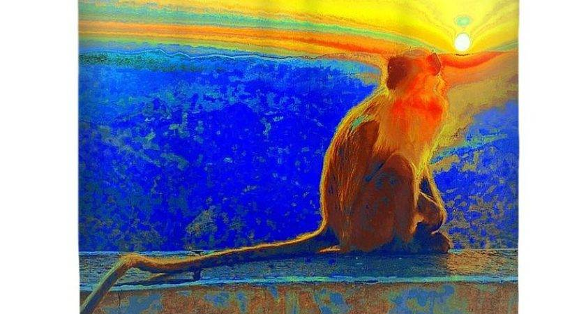 Monkey Stole Sunset Primary Colors Abstract