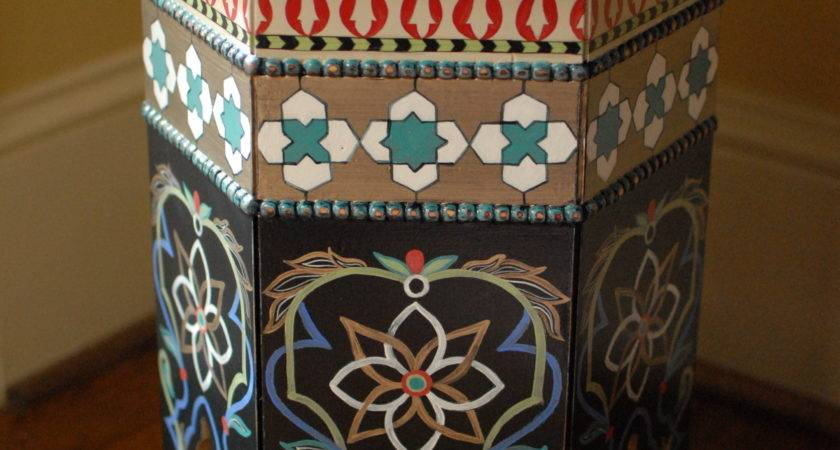 Moroccan Painted Table Allison Cosmos