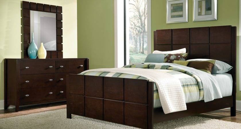 Mosaic Piece Queen Bedroom Set Dark Brown Value City